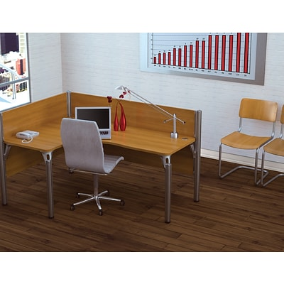 Bestar® Pro Biz Collections in Cappuccino Cherry, Left L-Shaped Workstation