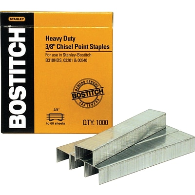 Stanley® Bostitch Heavy-Duty Staples, 3/8