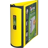 3 Staples® Better® View Binder with D-Rings, Yellow