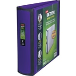 Staples® Better® D-Ring View Binders; 2 Purple