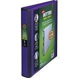 Staples® Better® D-Ring View Binders; 1 Purple