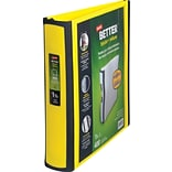 Staples Better 1.5-Inch D-Ring View Binder; Yellow (19060)