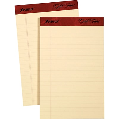 Ampad® Gold Fibre® Retro Writing Pad, 5 x 8, Medium Rule, Ivory, 50 Sheets/Pad (20-013)