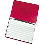 ACCO PRESSTEX® Covers with Storage Hooks Data Binder, Executive Red, 14 7/8 x 11, 6 (Ring Diamete