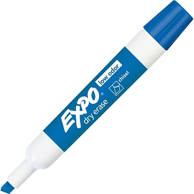 Expo Dry Erase Markers, Chisel Point, Blue, Dozen (80003)