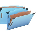 Smead® Colored Hanging File Folders with Divider, Blue, Legal, Holds 8 1/2H x 14W