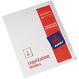 Avery Allstate®Preprinted Legal Exhibit Dividers, Side Tab, Tab Titles 1-25, White, 8 1/2 x 11