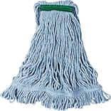 Rubbermaid® FGD21206 Super Stitch Blend Mop, Medium, 1 Headband, Blue