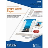 Epson® Premium Photo Paper; 8 1/2 x 11, Bright White/Ultra Smooth, 500 Sheets