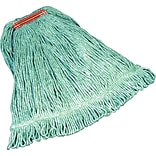 Rubbermaid® FGD21206 Super Stitch Blend Mop, Medium, 1 Headband, Green