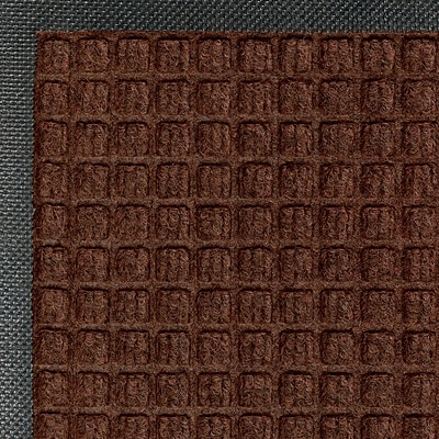 M+A Matting Waterhog™ Classic Mat , Dark Brown, 4W x 6L Cleated (200520046170)