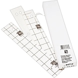 C-Line Self-Adhesive Attaching Strips, 3-Hole Punched, White, 11 x 1, 200/Bx