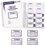 C-Line Visitors Log with Expiring Badges, White, 150/BX