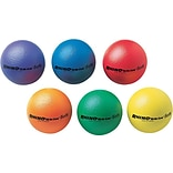 Champions Rhino Skin Ball Sets, 6 1/2, Blue, Green, Orange, Purple, Red, Yellow, 6/St