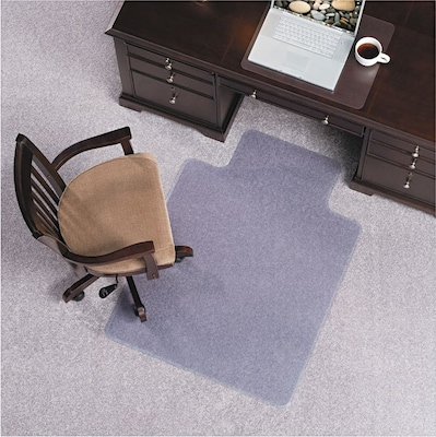 122073 Clear ROBBINS EverLife Chair Mats For Medium Pile Carpet With Lip 36 x 48 E.S