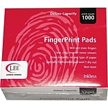 Lee Inkless Fingerprint Pad, 2 1/4W x 1 3/4D, Black, 12/Pk