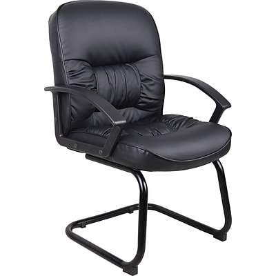 Boss® B7309 Series Leather Sled Base Guest Chair