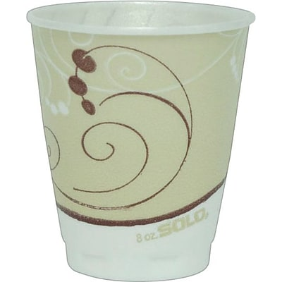 Solo® Symphony® Styrofoam Hot & Cold Cups, 8 Oz., Design, 300/Ct