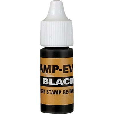 Re-inking Fluid for Stamp-Ever Pre-inked Stamps, Black