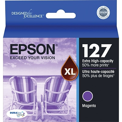 Epson 127 Magenta Ink Cartridge (T127320), Extra High Yield