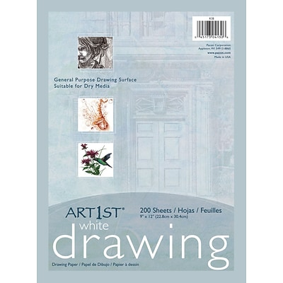 "Art1st® White Economy Weight Drawing Paper, 9""x12"", 200 Sheets"