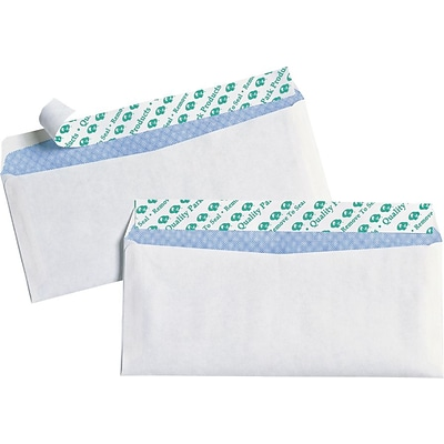 Quality Park Redi-Strip™ Redi-Strip™ Security Tinted Business #10 Envelopes, 4 1/8 x 9 1/2, White, 30/Bx
