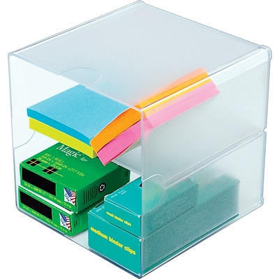 Deflect-O® Organizing Cubes, Divided with Clips