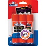 Elmers Disappearing Purple School Glue Sticks, 3/Pack, .77 oz