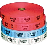 Admit One Single Multi-Pack Raffle Ticket Rolls 4-Pk
