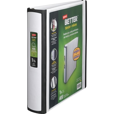 Better® D-Ring View Binders, 1-1/2 White