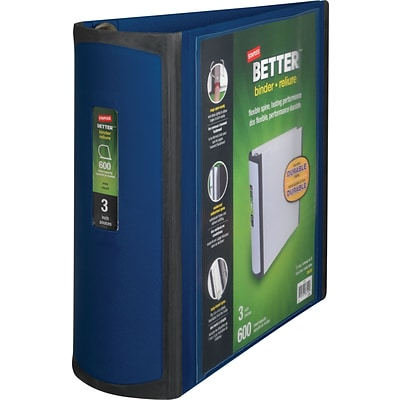 Better 3-Inch D-Ring View Binder, Blue (15127-CC)