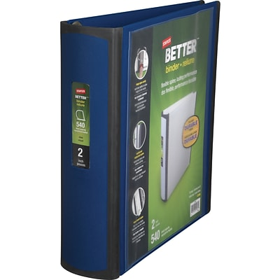 Staples Better 2-Inch D-Ring View Binder; Blue (13398-CC)