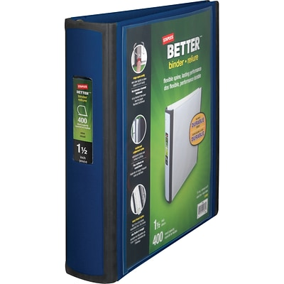 Better View Binders, 1.5-Inch, Blue (13400)