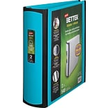 Staples® Better® D-Ring View Binders; 2 Teal