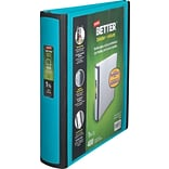 Staples® Better® D-Ring View Binders; 1-1/2 Teal