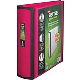 Staples Better 2-Inch D-Ring View Binder; Pink (13570-CC)