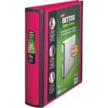 Staples® Better® D-Ring View Binders; 1-1/2 Pink