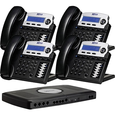 Xblue® X16 Self-Install Digital Telephone System Bundle, 4-Pack, Charcoal