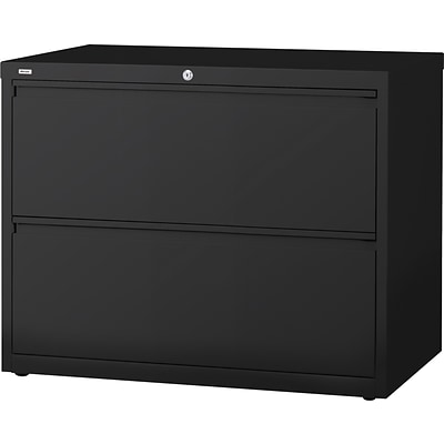 Quill Brand® Lateral File Cabinets; 36 Wide, 2-Drawer, Black