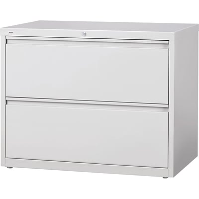 Quill Brand® HL8000 Commercial 42 Wide 2 Drawer Lateral File/Storage Cabinet, Light Gray