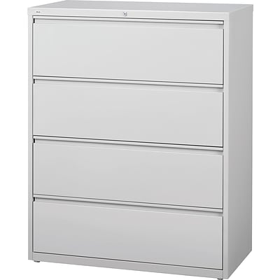 HL8000 4 Drawer Commercial Lateral File/Storage Cabinet, Light Gray, 42 Wide