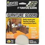 Mighty Mite Furniture Sliders, 5, 4/Pack