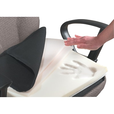 Master ComfortMakers® Deluxe Adjustable Seat/Back Cushion with Memory Foam, Black, 17 1/2H x 17W x 2 3/4D