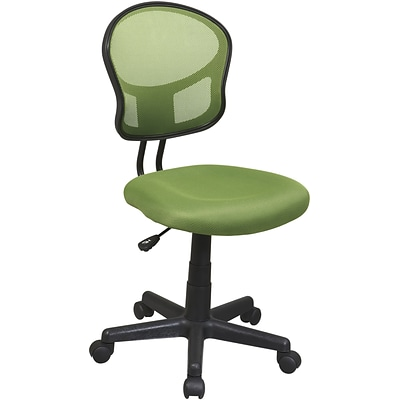 Office Star & trade, Mesh Armless Low-Back Task Chair, Green