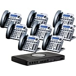 Xblue® X16 Self-Install Digital Telephone System Bundle, 8-Pack, Titanium