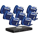 Xblue® X16 Self-Install Digital Telephone System Bundle, 8-Pack, Vivid Blue