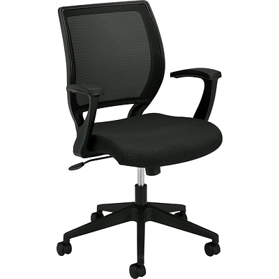 basyx by HON® HVL521 Series Managerial/ Midback Chair, Black NEXT2017 NEXT2Day