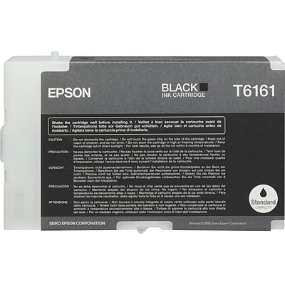 Epson T6161 Black Ink Cartridge (T616100)