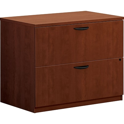 basyx by HON® BL Series 2 Drawer Lateral File Cabinet, Medium Cherry, 35.5W (HBL2171A1A1)