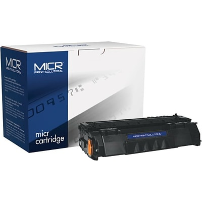 MICR Print Solutions Compatible with Q5949AM MICR Toner, 2,500 Page-Yield, Black